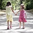 Jaime_and_ahsy_walking_along_road