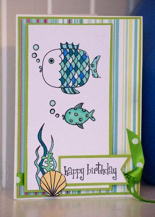 Fish Happy Birthday Card