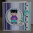 Kokishi Doll Birthday Card