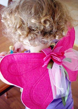 Charlee in her wings web