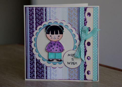 Kokishi Doll Birthday Card